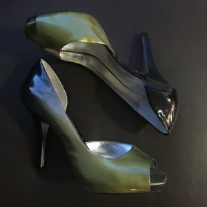 Green and Black Jessica Simpson Heels